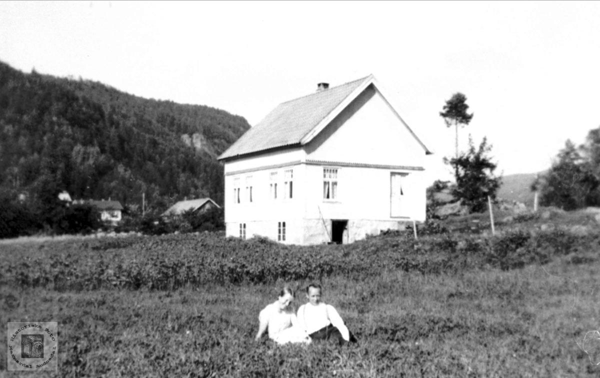 En sommerdag på Røyjordet (Tuften) Ytre Ågedal i Bjelland, senere Audnedal..
