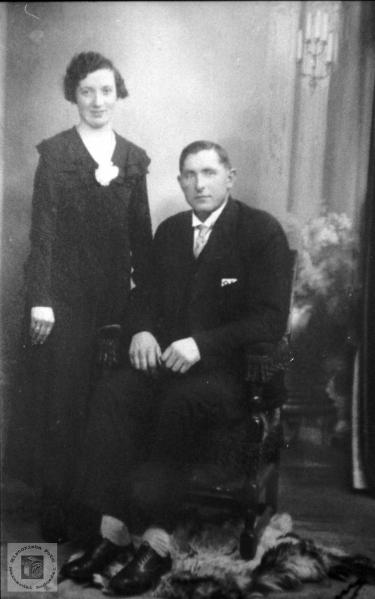 Portrett av ekteparet Tordis og Håvard Tveit.