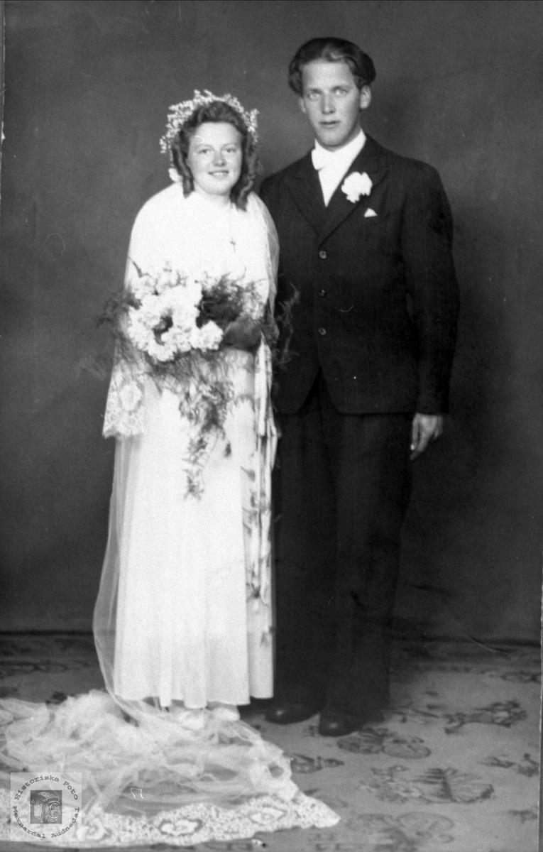 Brudeparet Dagny og Ingvar Sandåker