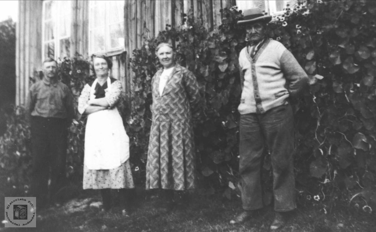 Jernbanearbeidar familie 1930-1940 på austre Høye, Øyslebø.