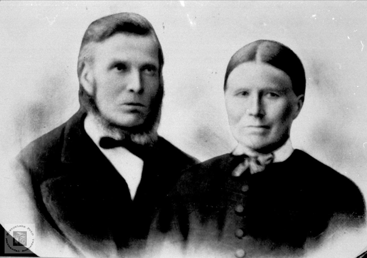 Ekteparet Gunleiv og Tarjer Fossestøl, Øyslebø.