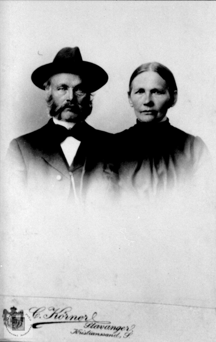 Ekteparet Abraham og Tarjar Koland, Bjelland.