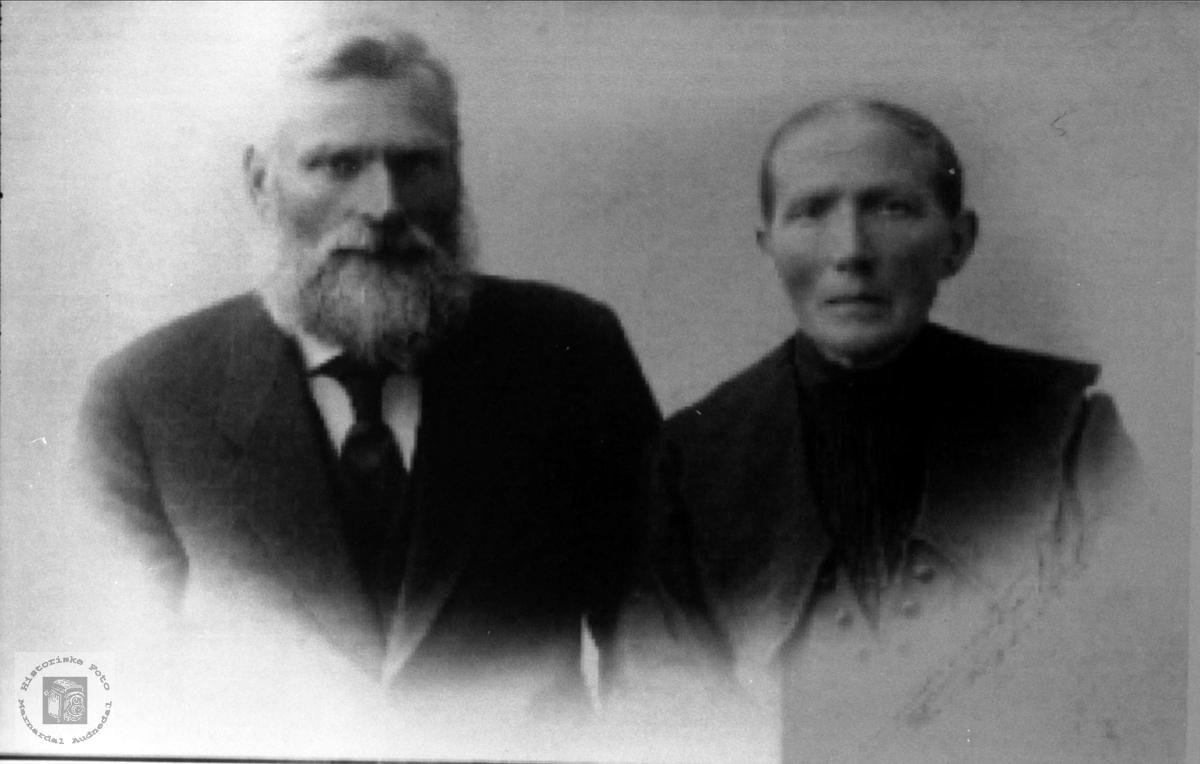 Ekteparet Ole og Ingeborg Surteland, Øyslebø.