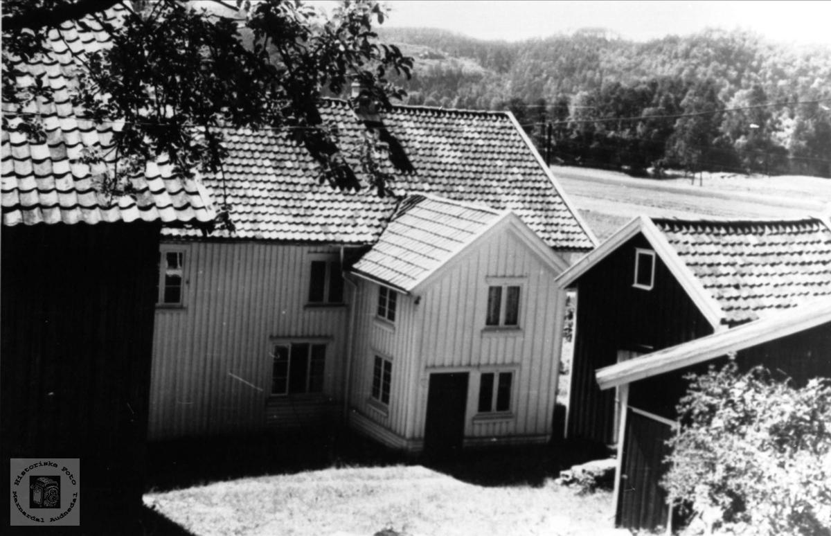 Baktun på Skjævesland i Øyslebø.