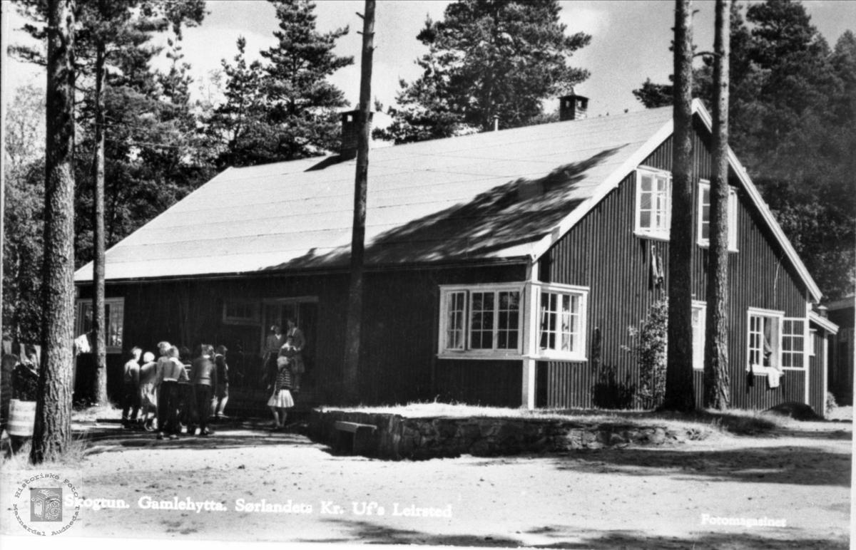 Gamlehytta Skogtun i Øyslebø. Marnardal.