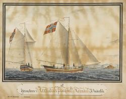 'Arendals Paquet' av Arendal [Akvarell]