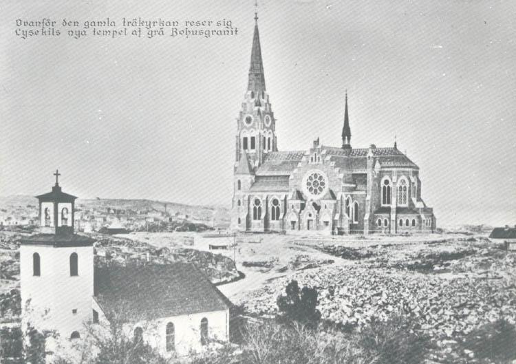 Lysekils gamla och nya kyrka.