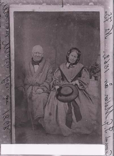 """Text på plåten: """"Consul J. G. Mollén år 1862. Nr. 75."""" Avbildad person, ort: JOHAN GABRIEL MOLLÉN"""