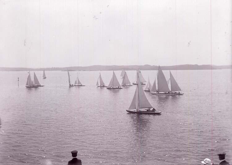 """Enligt text som medföljde bilden: """"Kappsegling 1913"""". ::"""