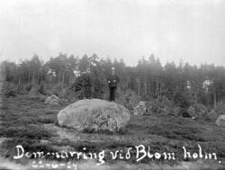 "Johans text på fotot: ""Domarring vid Blomsholm 22 juni 1924"""