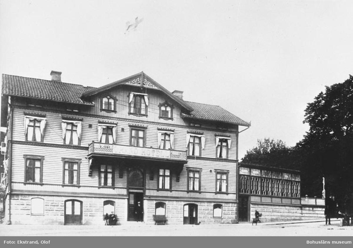 Text på bilden: Grand Hotell. Lysekil. Matsalen