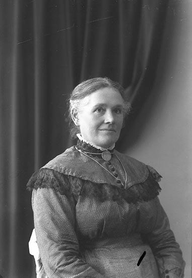 """Enligt fotografens journal nr 3 1916-1917: """"Svensson, Beata Fru Grinstorp""""."""