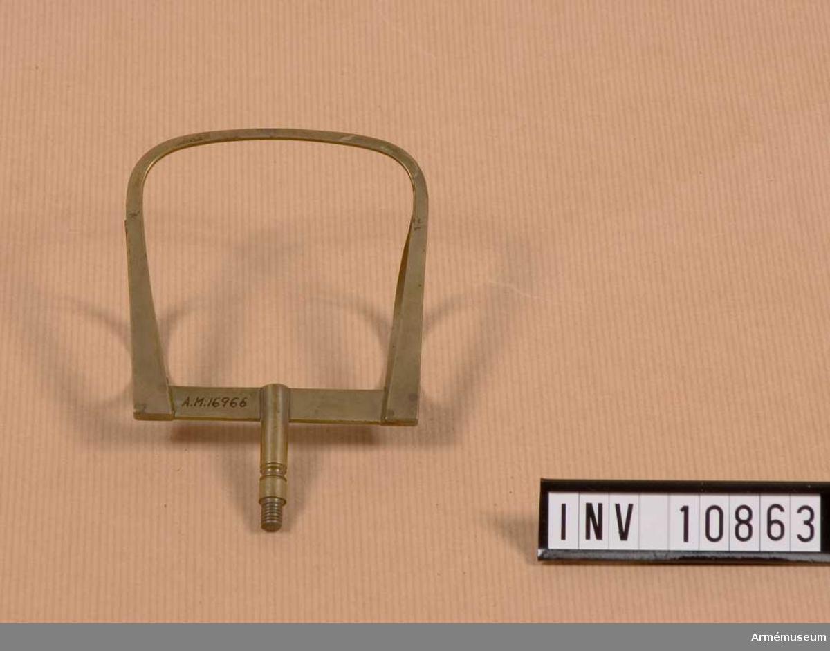 Grupp B III. Notställ att montera på sadel, använt av musikfanjunkare O F Sundström.