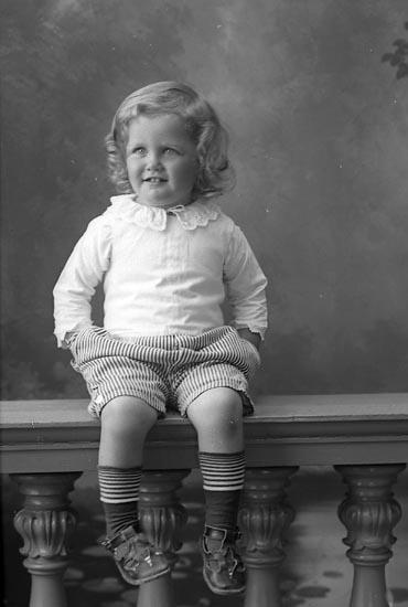 """Enligt fotografens journal Lyckorna 1909-1918: """"Brunius, Skådespelare (gossen), Stockholm""""."""