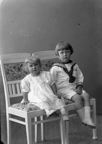 """Enligt fotografens journal nr 4 1918-1922: """"Adlerstråle, Fru (barnen) Ön""""."""