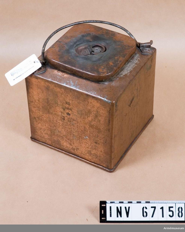 Grupp I III. Ursprungligen från Karlsborg. Vid kassation av koppar år 1940 samlades materiel på Karlsborg.