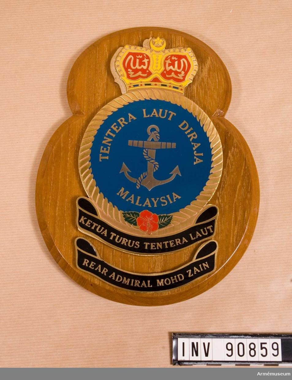 TIll General Stig Synnergren från Rear Admiral Mohd Zain