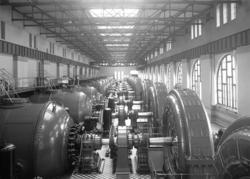 Turbinhallen, Olidans kraftverk, Trollhättan, augusti 1924