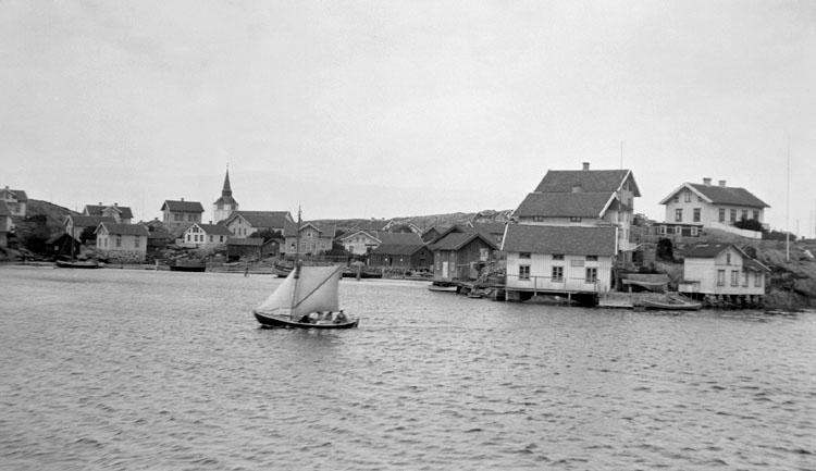 Enligt senare noteringar: Vy över samhället från söder. 10 Augusti 1919.