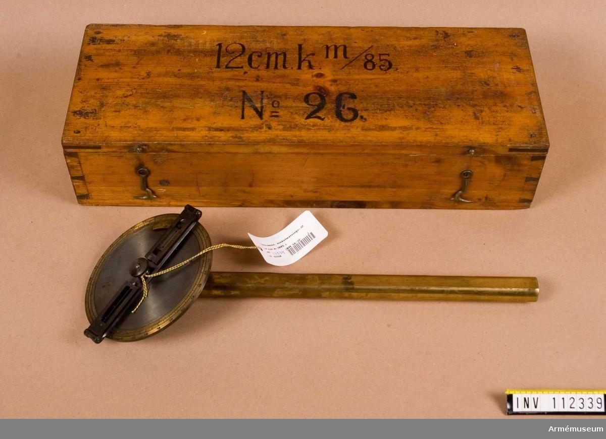 Vinkelmätningsinstrument i låda