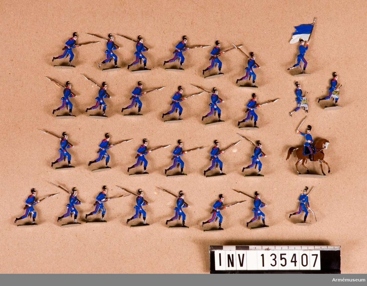 Föreställer infanteri i anfall.