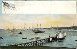 Notering på kortet: Kriegshafen Kiel.