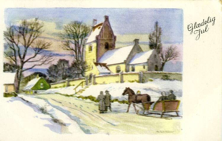 Notering på kortet: Gladelig Jul