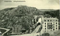 """Text till bilden""""Skolgatan med Kålgårdstunneln""""."""