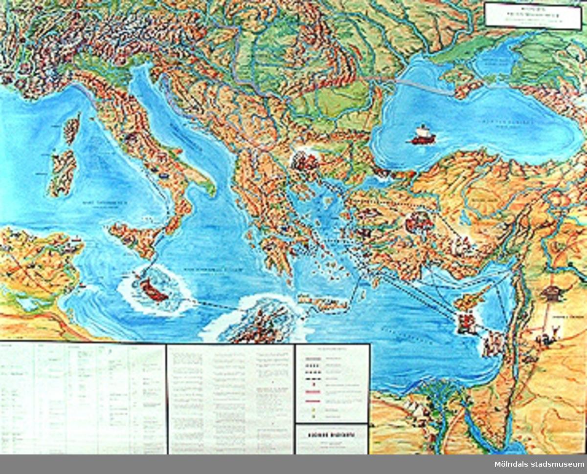 Karta över Paulus Missionsresor.(Märkt nr 1 från fotograf Johnny Johanssons bildordning, feb -01.)