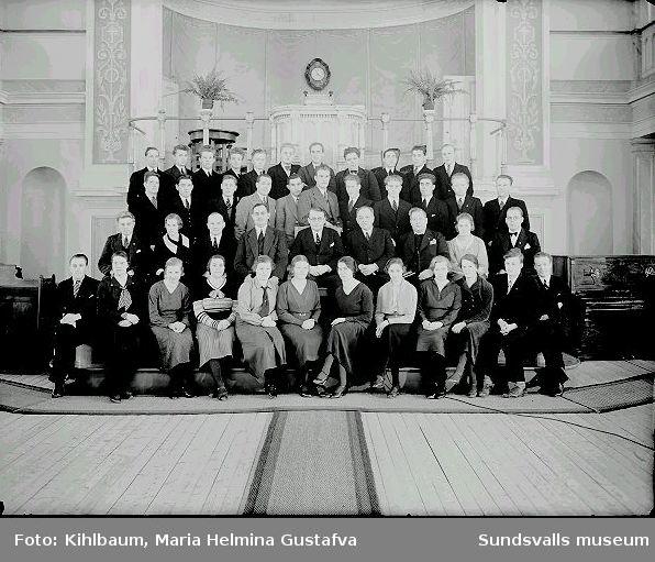 Grupporträtt, Elimförsamling.