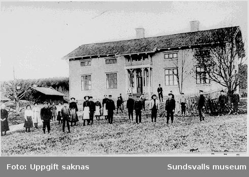 Indals folkskola 1906. Troligen vykort.