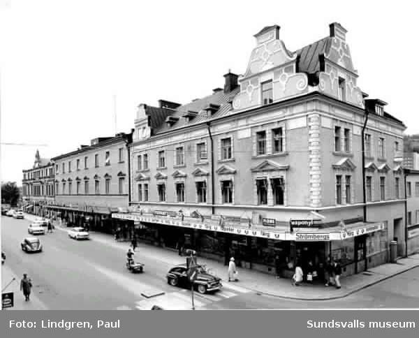 Storgatan 36 med Strömbergs Färg, Dahlmans m fl