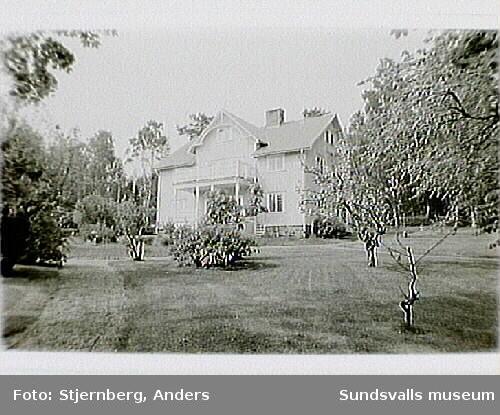 Måvikens f.d. sågverk, Nordingrå, Kramfors kommun; bostadshus och pålrester, dykdalb.