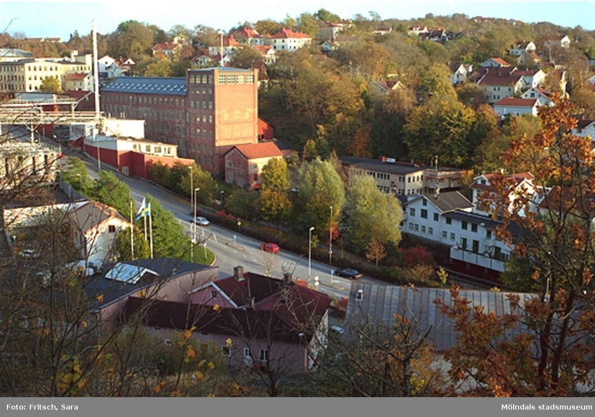 Vy över Mölndals Kvarnby, 1996.