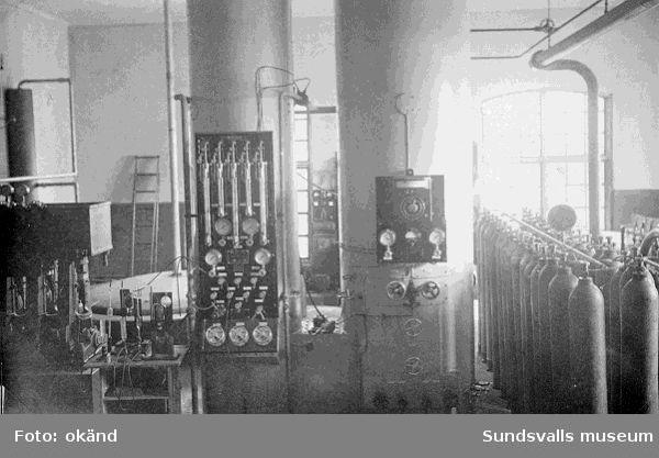 Interiör, troligen från Sundsvalls gas- och elverk