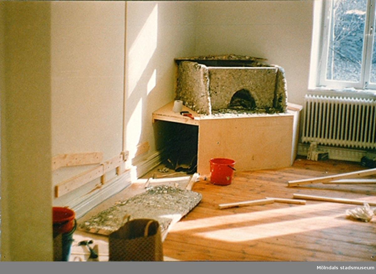 Basutställningar under dess uppbyggnad. Slutet av 1980-tal.