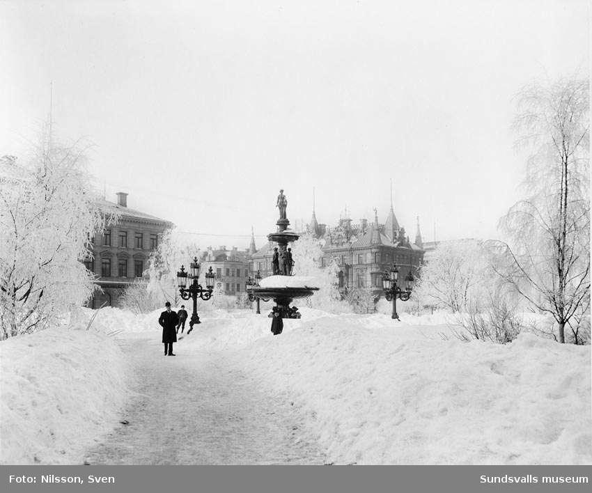 Vängåvan vintertid från Storgatan
