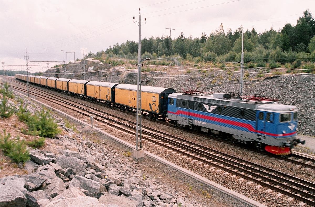 Posttåg på väg från Tomteboda, Stockholm till Sundsvall.