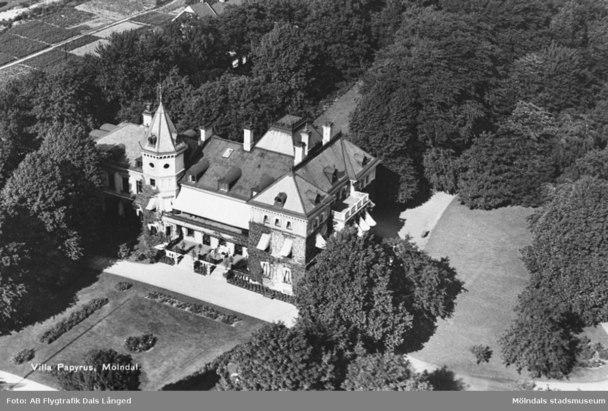Papyrus disponentbostad Villa Papyrus i Mölndal, år 1935.