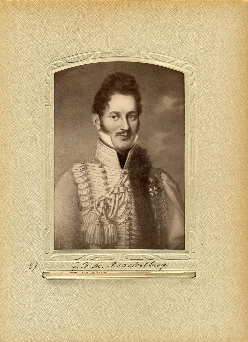 Porträtt av friherren och Överpostdirektören i Postverket 1830-1831, Magnus Stackelberg.