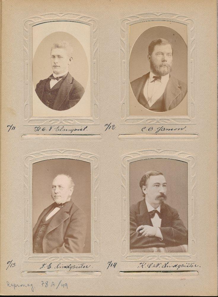 Porträtt av Frans Edvard Lindqvister, postmästare i Fjällbacka 1864-1875 och Torshälla 1875-1893.
