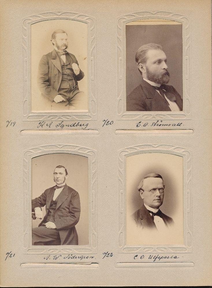 Porträtt av Karl Alexander Sandberg, postmästare i Trosa 1866-1885.