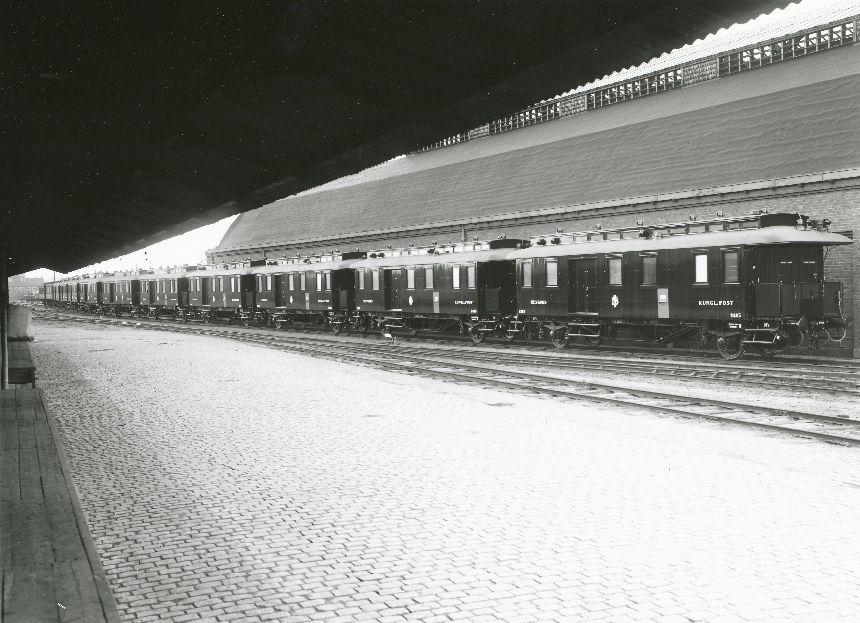 Fotografi föreställande Järnvägspostvagn SJ DF5 2876-2885, tilllverkad 1931.