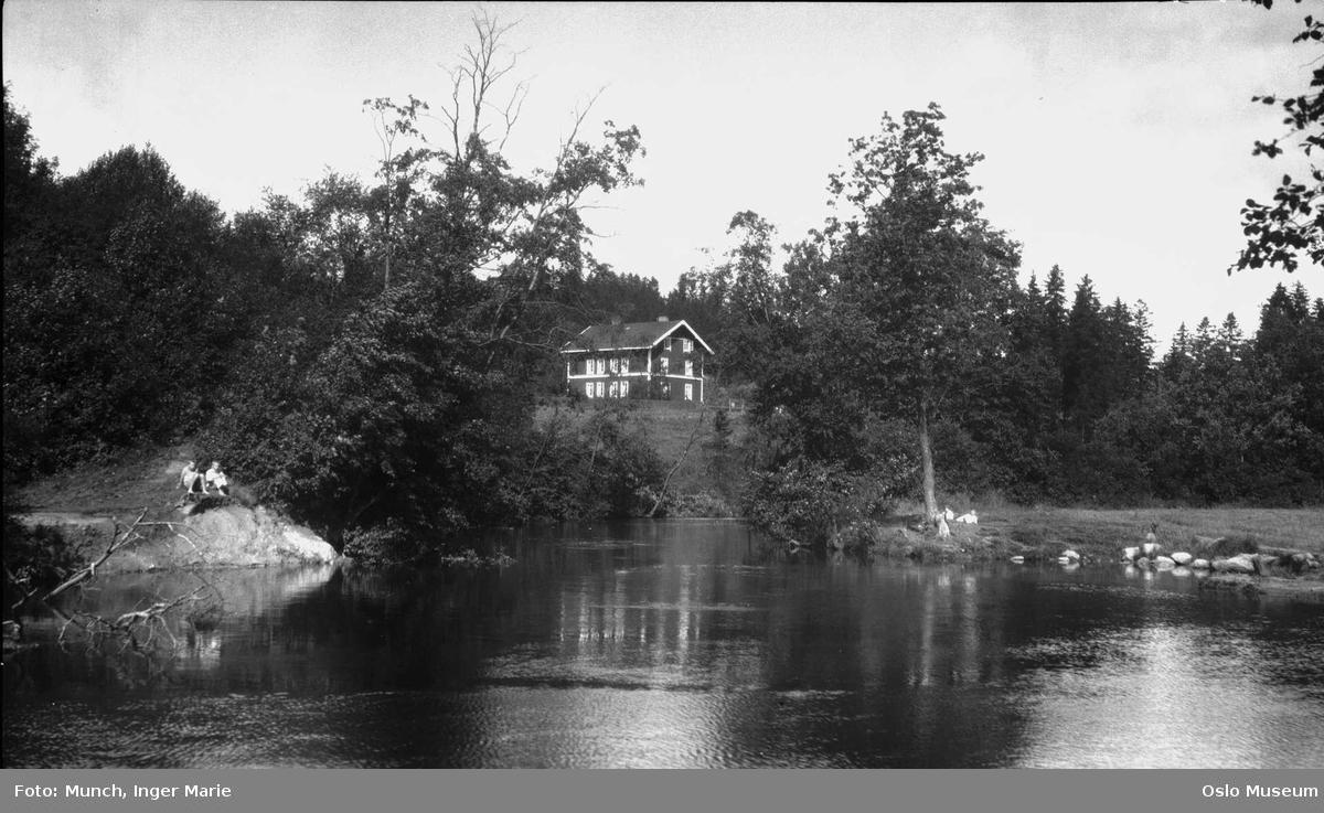 elv, dam, badekulp, skog, bolighus, husmannsplass Svensenga