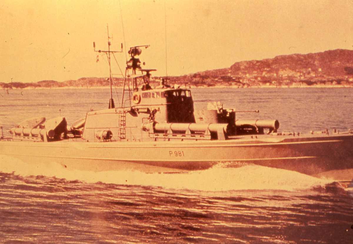 Norsk fartøy av Snøgg - klassen med nr. P 981 og som heter Rapp.