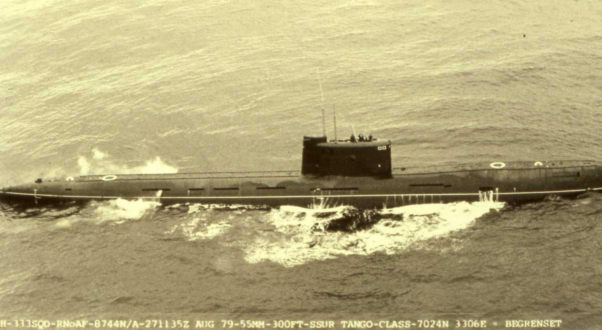 Russisk ubåt av Tango - klassen.