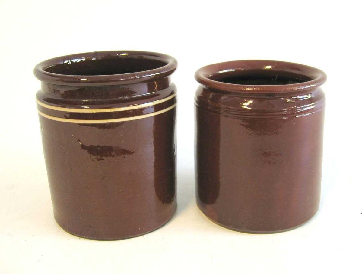 6 stk sylinderforma krukker