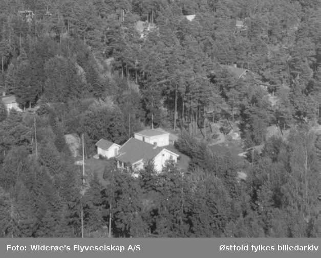 Oversiktsbilde over ukjent parti av Larkollen i Rygge.