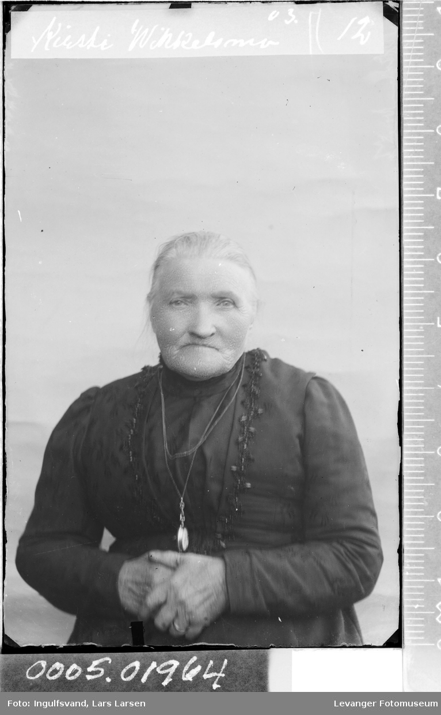 Portrett av en gammel kvinne.