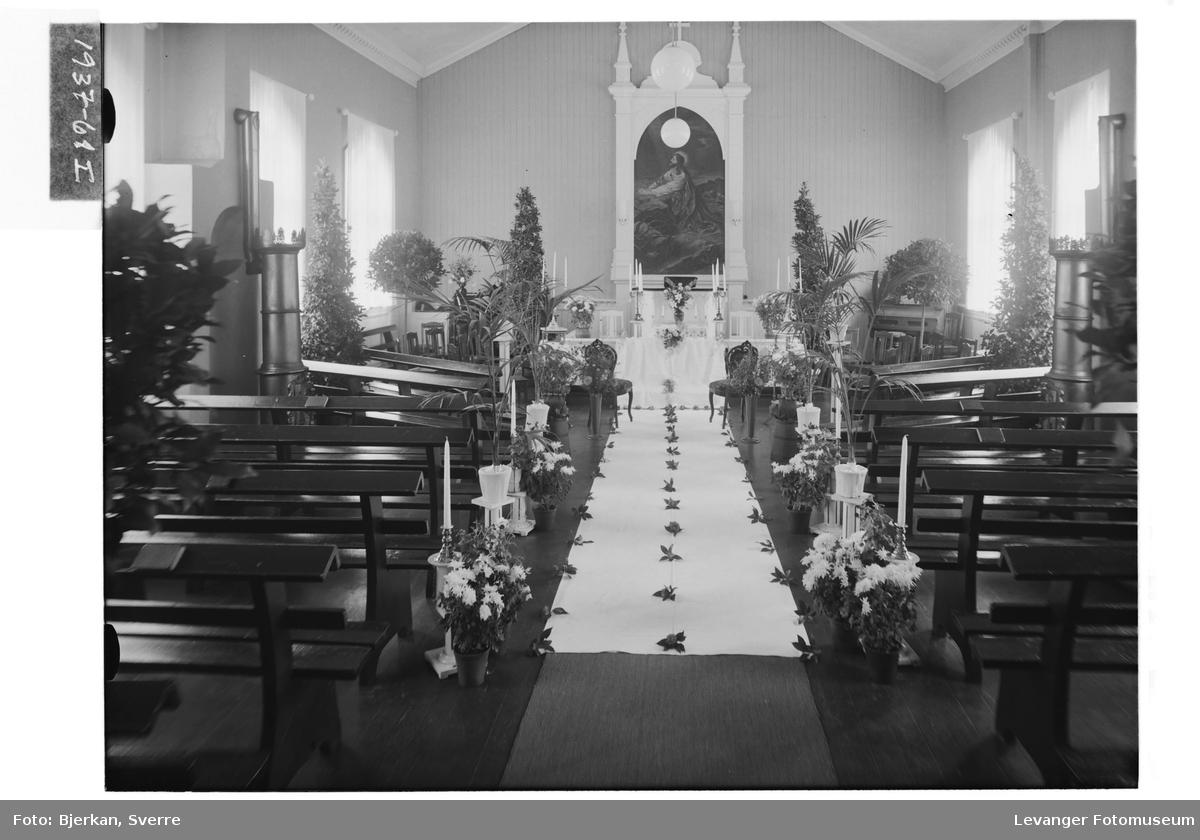 Interiør i Betania Bedehus i Levanger